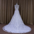 See Through V-Neck A-Line Wedding Dress Styles