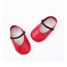 Sapatos de vestido de bebê sola de couro genuíno macio