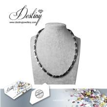 Destino joyas cristales de Swarovski collar de cerámica