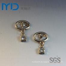 Oval Pin Hebillas con colgante y gotas para zapatos Bolsas y prendas de vestir