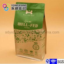 Laminiertes Papier Quad Unterseite Verpackungsbeutel für Haustierfutter