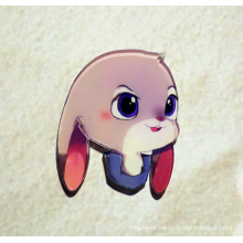 Cartoon Rabbit Brooch with Long Ears