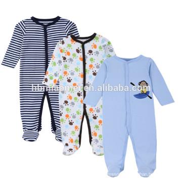 2017 winter romper clothing 3pcs set cartoon printed long sleeve baby romper set