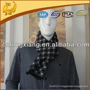 Dernier design 100% Polyester Soie Feel Echarpe Brossé Hiver écharpe chaude Polyester Pour Hommes