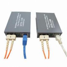 Fiber Optic Converter with Transceiver Rate 10/100/1000m