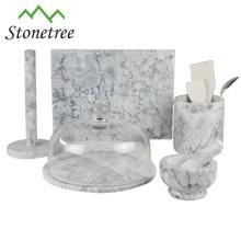 Utensilios de cocina de mármol natural de alta calidad