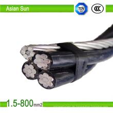 XLPE-Isolierung ABC-Draht-Luft-Bündelkabel