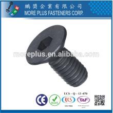 Fabricado em Taiwan DIN7991 M6 Stainless Steel Hex Socket Countersunk Screws
