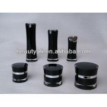 Redonda cintura en forma de acrílico frasco de cosméticos