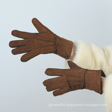 ladies sheepfur lined sheepskin warm winter gloves
