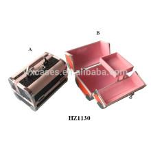 cosmétique professionnelle aluminium sacs cas avec plateaux à l'intérieur