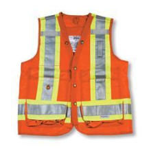 Orange 100% Polyester Surveyor Vest