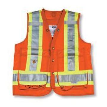 Orange 100% Polyester Surveyor Vest