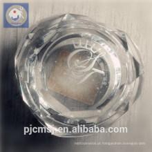 Caixa de jóia de cristal por atacado bonita e elegante da forma do coração para a decoração ou o presente home