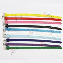 8 milímetros de largura colorida pulseira de couro genuíno (LB)