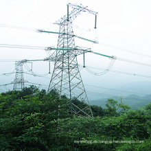 220kv Torre de transmisión de energía de hierro de circuito único
