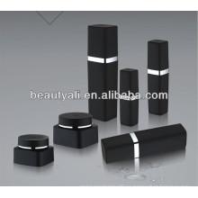 Tarro negro cosmético plástico de los PP de 30g 50g