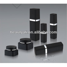 30g 50g Plastic Cosmetic Black PP Jar