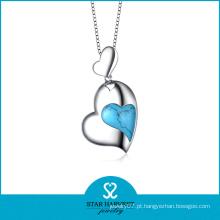 Colar de jóias por atacado de forma de coração por atacado (N-0181)