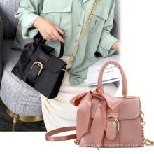 2021 All-Match Bowknot Portable Messenger Bag Fashion Silk Scarf Female Bag