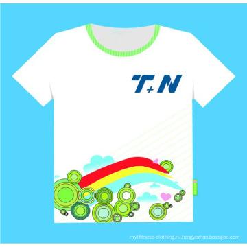 Дешевые 65% полиэстер 35% хлопок Индивидуальные сублимации печатных футболки