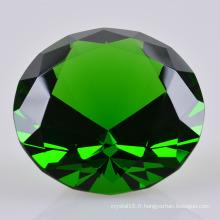 2016 coloré cristal verre de diamant pour le cadeau de souvenir de mariage