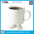 White Foot Shape Ceramic Coffee Mug