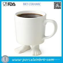 Белые Формы Стопы Керамическая Кружка Кофе