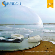 Outdoor Camping Igloo Inflatable Clear Tent Inflatable Transparent Bubble Tent