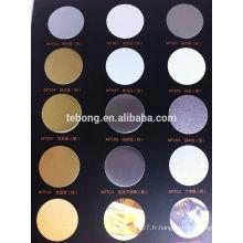 High Definition Sublimation impression d'impression en aluminium par imprimante Épaisseur: 0.45mm-0.65mm Couleur: blanc, argent, or,