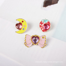 Lovely Brooch, Strawberry, Butterfly and Moon
