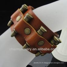 Vente en gros Bijoux Bracelet en cuir de style européen avec charme BGL-020