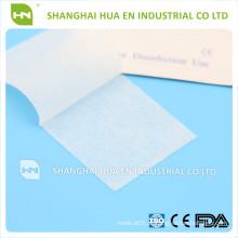 Para cirurgia e esterilização da porção 1 ou 2, 3cm x 6cm, esfregaço não tecido com álcool