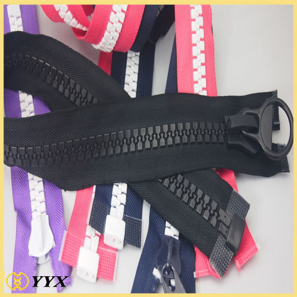 no.10 reversible plastic zipper