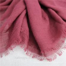Moda llanura Venta superior 180 * 90 cm borlas de lino de algodón musulmán mujeres hijab bufanda chal