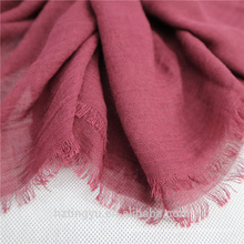 Мода простой Топ продажа 180*90 см хлопок белье кисточки мусульманских женщин хиджаб шарф шаль