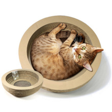 China for Luxury Straight Panel Cat Scratching Board Bowl Type Corrugated Paper Cat Scratch Toys supply to Argentina Manufacturers