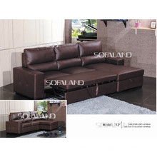 Мебель расширенный кожаный диван-кровать (712 #)