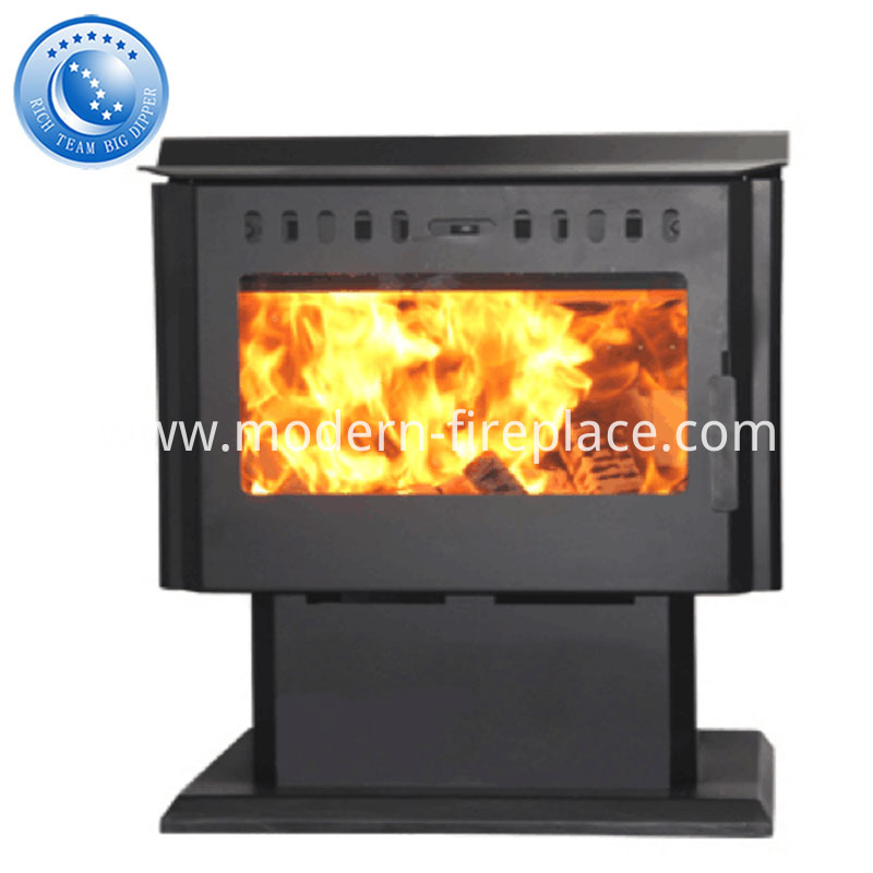 Custom Steel Plate Wood Burning Fireplaces