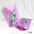 Custom Printed Stand up Zipper Pouch, Fural Candy Bag, Cotton Candy Packaging Bag