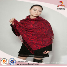Jacquard Woven Viscose polyester Blended Cheap Scarf