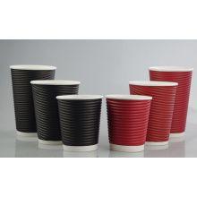 Descartáveis, quente, bebendo, logotipo, ondulação, parede, papel, café, copo