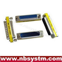 Db44 pin weiblich zu weiblicher geschlechtsschalter wechseln blau