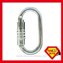 2442KTL-3 Triple Lock en acier galvanisé ovale mousqueton