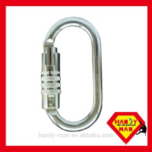 2442KTL-3 Triple Lock Galvanized Steel Oval Carabiner