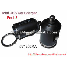 5V1200MA 34mm mini usb car charger for iPhone4/4S/5