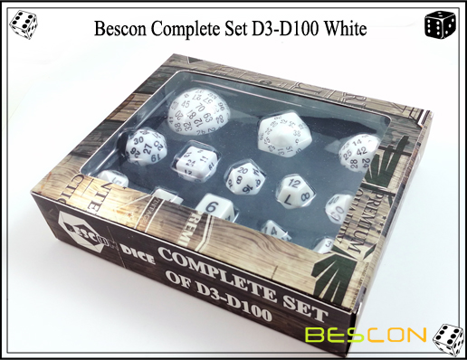 Complete Dice Set D3-D100 (3)