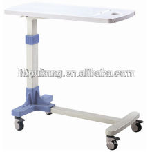 2016 F-33 ABS hospital movable over bed table, hospital bed dining table, adjustable hospital over bed table