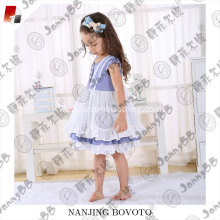 Boutique remake little girl puffy cotton dress