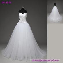 Simple Sweetheart Long Wedding Dresses Sleeveless Crepe White Beach Wedding Dresses 2017 Cheap A Line Wedding Gowns
